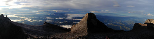 At just under 4100 meters, Mt. Kinabalu is the highest trekkable mountain in South East Asia. It rises 2500 meters in altitude on a path that is 8700 meters long!
