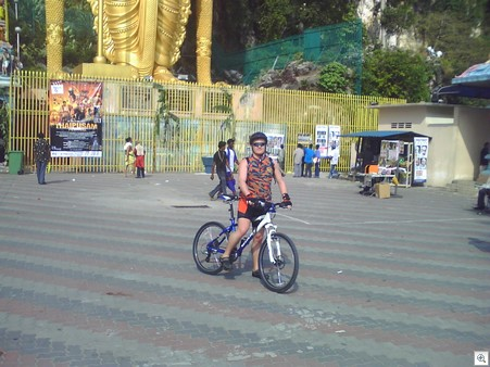 At the batucaves with bike