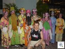Jan geirnaert with chinese gods at central market kuala lumpur chinese new year march 2007
